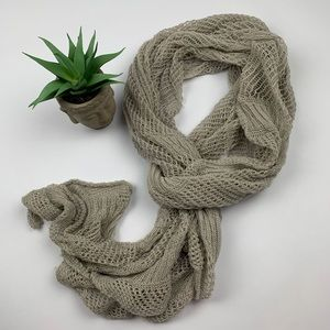 FREE Coldwater Creek Grey Crochet Scarf